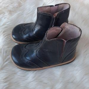 Bobux Girls Leather Grey Boots Sz 22/6